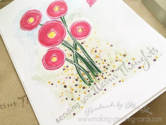 floral handmade card 1
