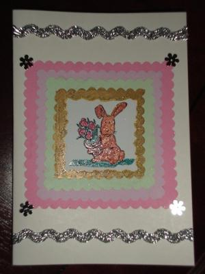 A Cheer Up - Flower Present Card