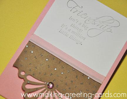 spoilt friendship greeting card/Spoilt Card
