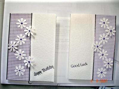 Gingham Daisy card