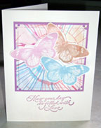 butterflies splash paint card