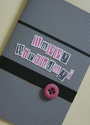 male birthday card - a masculine handmade card