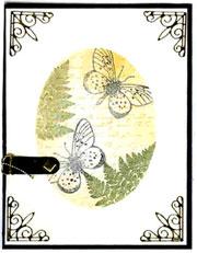 homemade butterfly card