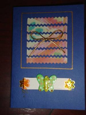 Handmade Butterfly Mosaic Card