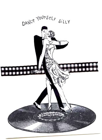 dance yourself silly card/Black and White Dance Yourself Silly