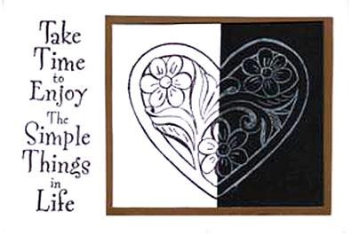 enjoy simple things/Black & White Enjoy Simple Things Card