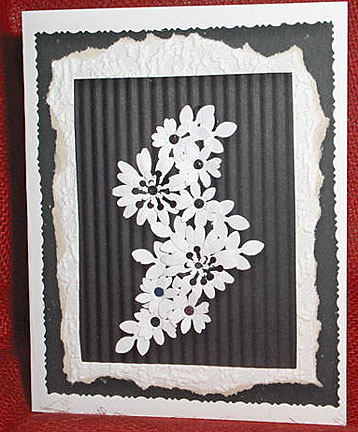 bouquet of flowers card/Black and White Flowers