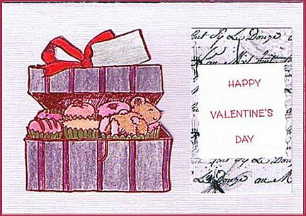 cupcakes in a Box Valentines Day gift card