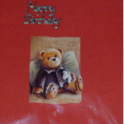 Teddy Bear Happy Birthday Card