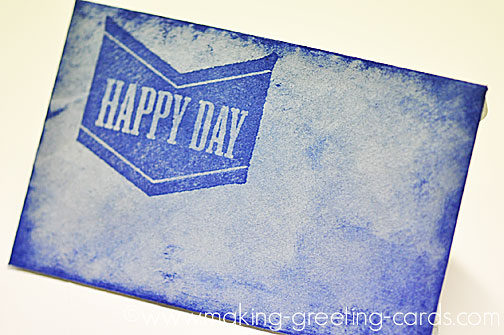 stamped happy day birthday note card envelope/Happy Day Envelope