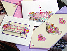 valentines cards made with stickers
