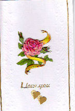 Rose Happy Valentines Day Card