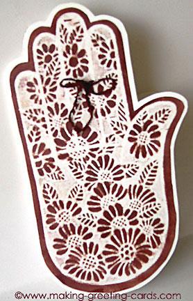 Henna Tattoo Hand Card - Birthday Card Ideas