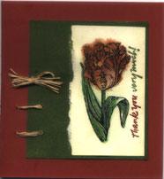 tulip rubber stamp