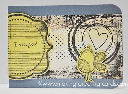 i miss you card/I Miss You Card Grunge