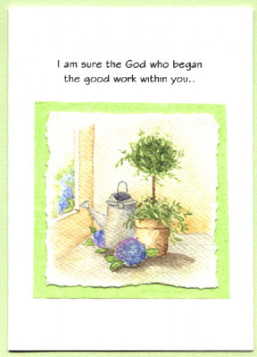 handmade watercoloured card