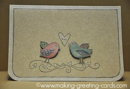 lovebirds greeting card/Sweet LoveBirds Greeting Card