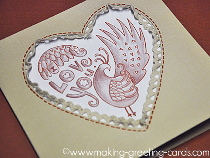 love bird greeting card/Non-Cutesty Love Bird Greeting Card