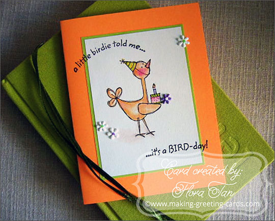 making birthday cards/Birdie Birthday Card