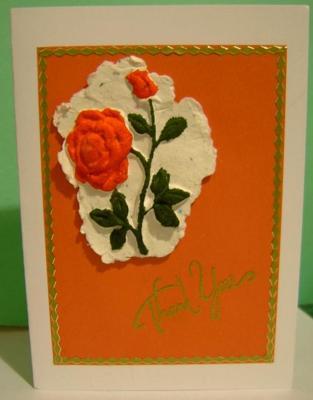 A Moulded Rose Card