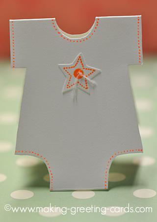 onesie baby card