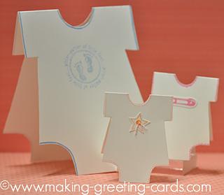Cute Onesie Baby Cards