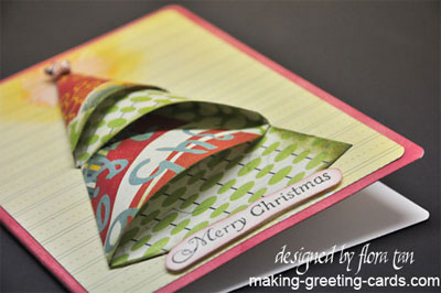 origami christmas tree card/Folded Christmas Tree Card