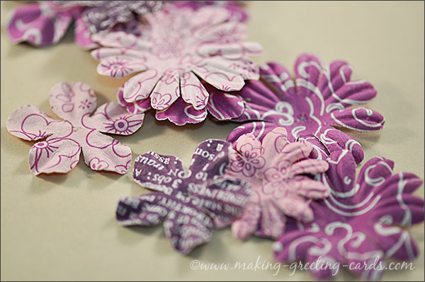 patterned paper flowers