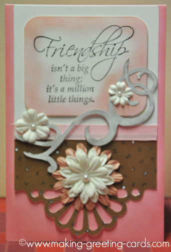 pink friendship greeting card/Pink Buddy Card