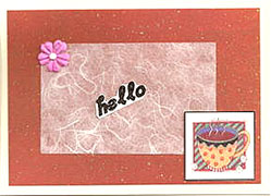 think pink handmade card