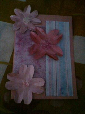 Pink and Pink Homemade Card