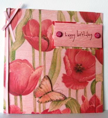 Poppy Flowers Birthday Card