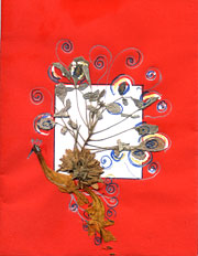 pressed flowers card 1