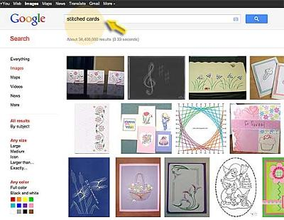 Google Search For Stitched Cards