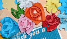 quilled card (closeup view)