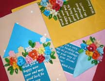 quilled technique card