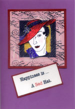 red hat cards/Happiness is a red hat