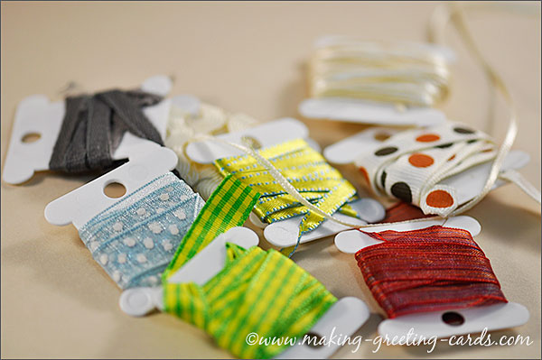 ribbons for cardmaking