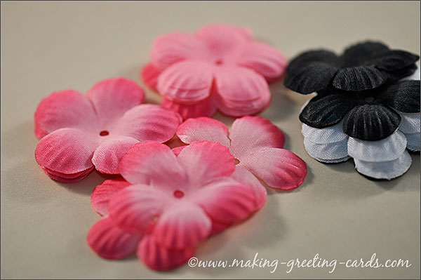 flowers for cardmaking