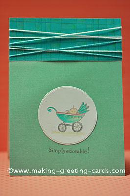 Simply Adorable Baby Card