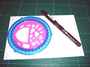 spirograph wheel and pen