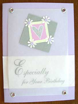 A handmade happy birthday card