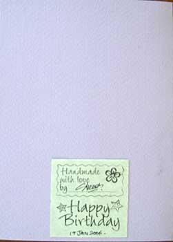 a handmade birthday card