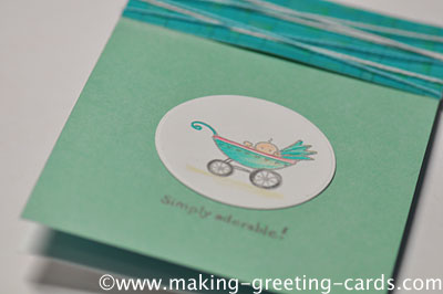 Teal Baby Card