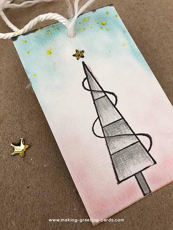 Tree Christmas Gift Tag