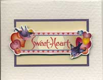 sweet heart sticker card