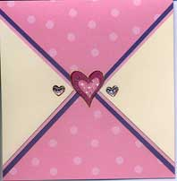 Polka and heart design card