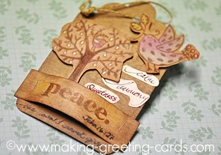 rustic holiday tag/Aged Look Tag
