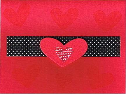 felt heart valentine card