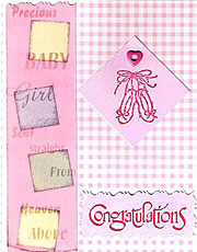 Handmade Baby Girl Card